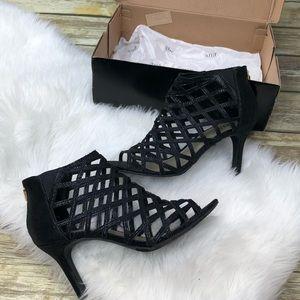A.N.A Womens Black Classy Pumps Heels Size 8 M
